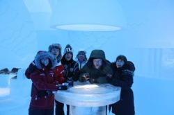 Vodka in the Ice Bar