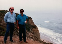 Ray Bob Gordon and I living on the edge in the 80's