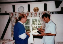 1989 Doug with Stephen Brookner, first client in UK - RIP